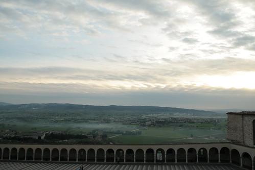 view from basilica di san francesco