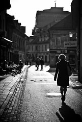 Late afternoon (c_c_clason) Tags: street leica shadow blackandwhite 50mm slovenia m8 ljubljana 550 sonnar carlzeiss csonnart1