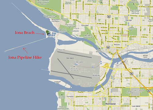 Iona Beach & Pipeline Map