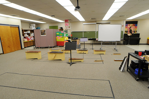 "Before shot of Winegard Elementary School's new creative studio as part of the Bounty ""We Love Our School"" $50,000 classroom makeover with design-duo Bob and Cortney Novogratz of HGTV's ""Home by Novogratz"" in Orlando, Florida on March 24, 2011."