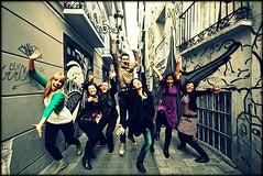 Musicales, yeah! 273/365 (Explored!) (Beatriz Pitarch) Tags: friends amigos team jump jumping energy happiness zaragoza salto groupshot alegra equipo saltar energa fotodegrupo eltubo project365 jumpingshot vitalidad