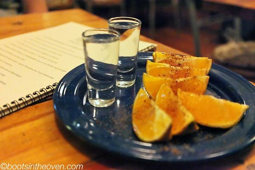 Mezcal with traditional accompaniments