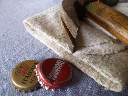 Chaveiro de tampinha - materiais