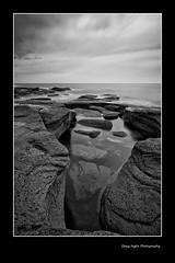 Grey-dawn. (D.I. Photographic.) Tags: england sunrise dawn rocks northumberland northsea northeast seatonsluice colleywellbay 110nd