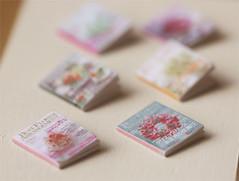 Dollhouse Miniature 1/12 Scale Flower Arrangement Books