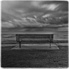 "Shell-Beach-Bench-1 (James A. Crawford - ""Crawf"") Tags: california sky art beach water clouds canoneos shellbeach phototools cs5 colorefexpro dfine20 silverefexpro viveza2 topaz4 autoefexedges"