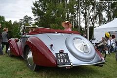 Delahaye 135 Figoni & Falaschi 1948 (Monde-Auto Passion Photos) Tags: auto automobile delahaye 135m cabriolet rouge gris 48h france montargis villemandeur domaine lisledon