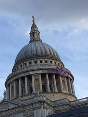 Demo (My photos live here) Tags: st pauls cathedral london city of capital dome roof paternoster square demonstration banner fathers rights demo