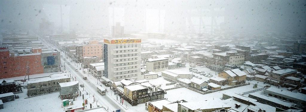Hirosaki in snow