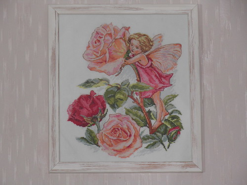 Вышивка «Фея розового сада»