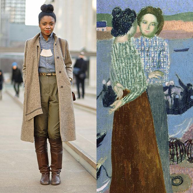 c31d878585c41 A paleta de cores e outros pequenos detalhes da obras casam perfeitamente  com as fotos de blogs de street style mudo afora. Aliás, o Miss Moss  costuma fazer ...
