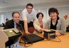 northernireland mp arlenefoster dup northbelfast democraticunionistparty nigeldodds enterpriseminister coresystems glenbankbusinesspark