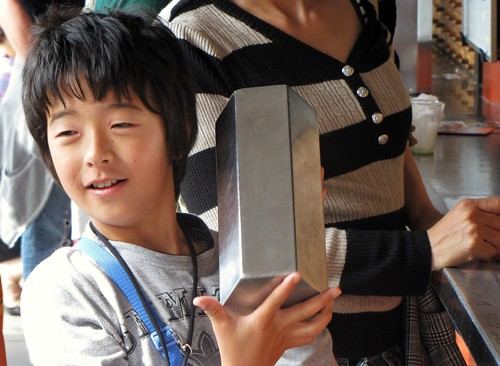 Asakusa - Japanese Boy Gets His Fortune