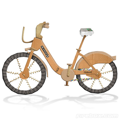 Firebox Recycle cardboard bicycle