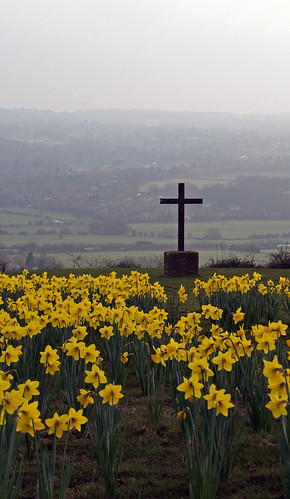 Cross on the hill, nr Kemsing, Kent