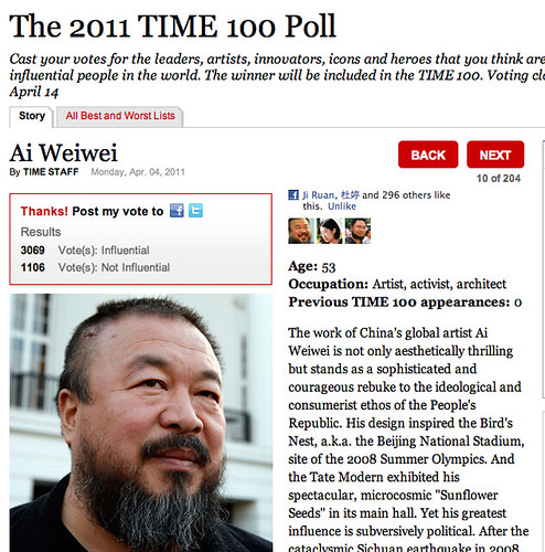 Aiww at TIME 100