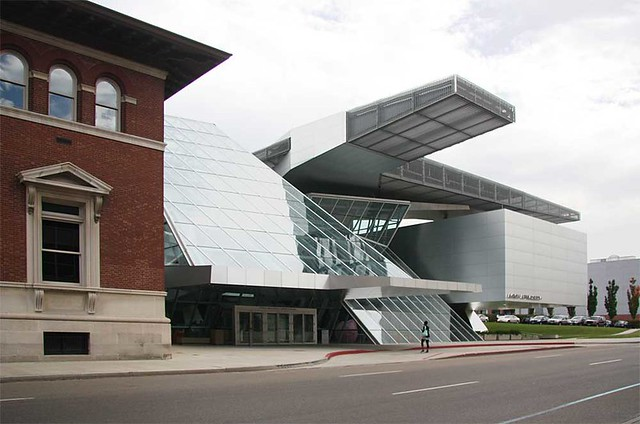 knight building at Akron Art Museum