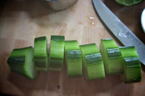 cucumber chop