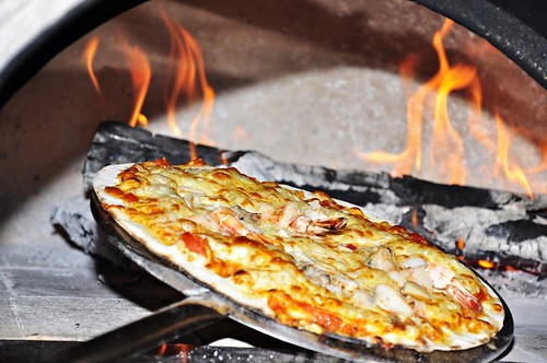 Pizza on the Wood Fire Oven