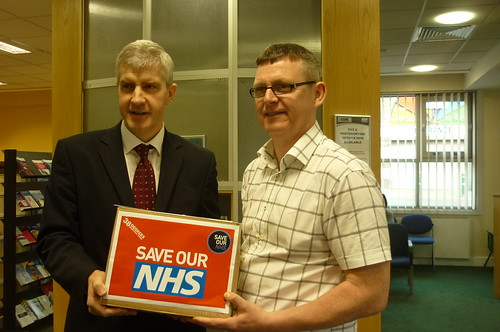 NHS petition hand-in Halton