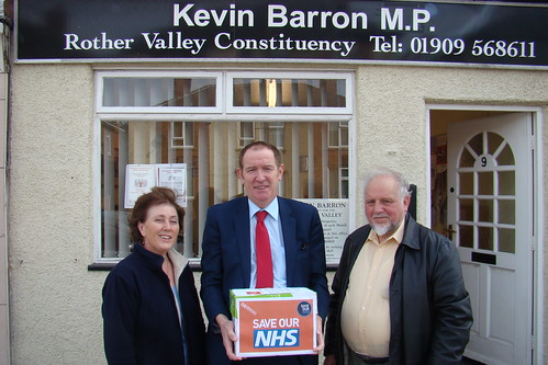 NHS petition hand-in Rother Valley