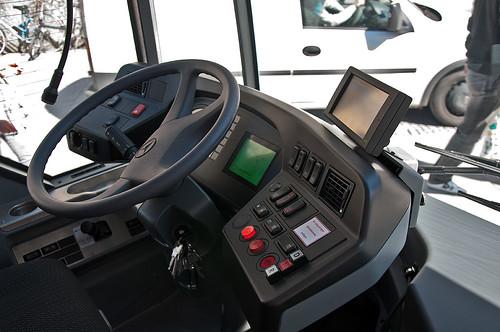 Bewährt: Das Cockpit des neuen Busses