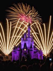 Magic Kingdom Fireworks [Explore] (Silver1SWA (Ryan Pastorino)) Tags: world castle canon fireworks magic sigma kingdom disney cinderella walt sigma1020 40d