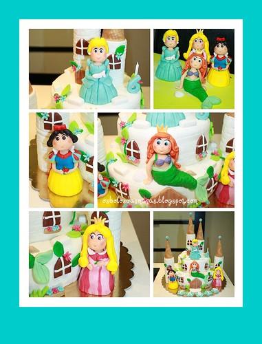 Detalhes Bolo Princesas Disney by Osbolosdasmanas