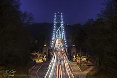 The Entrance to the Lions Gate Bridge (DiGitALGoLD) Tags: longexposure bridge blue night vancouver nikon gate shot hour lions stanleypark lionsgatebridge bluehour lionsgate gitzo d3 liongatebridge gitzotripod nikond3 digitalgold