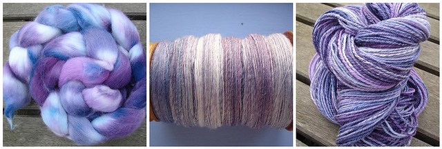 Grape Crush handspun