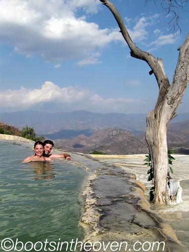 Us in the water.  Aaah.