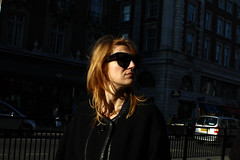 Piccadilly (Che-burashka) Tags: life street city portrait people urban woman london girl fashion sunny places piccadily londonist darkshades canonef28mmf18usm chasinglight