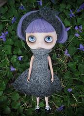 Abandoned. (Pink Anemone) Tags: flowers doll factory violet polly translucent blythe custom wisp zaloa eyechips