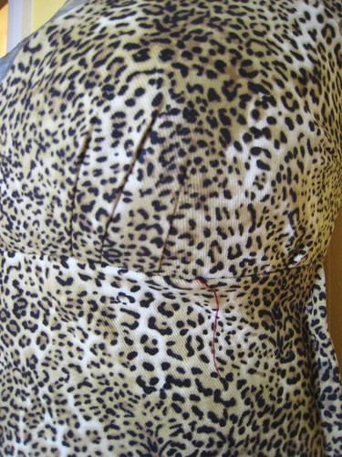 leopard dress underbust darts