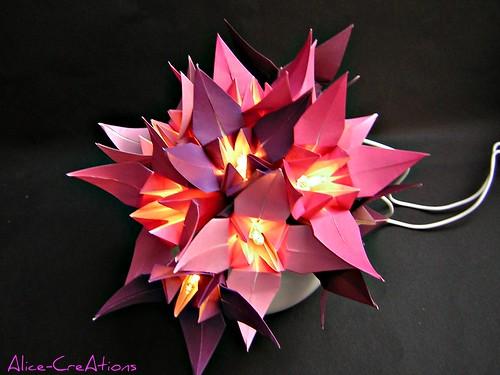 Origami-Lichterstrauß 2