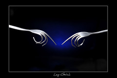 Fork (L S G) Tags: life blue art studio photography still hands nikon artistic philippines sb600 fork spoon gel d3 bended lsg strobist nikond3