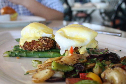 The Beach House- Maryland-style Crab Cakes Benedict