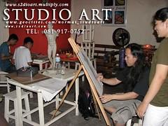 studio art ห้องเรียนศิลปะ สอนวาดเส้น