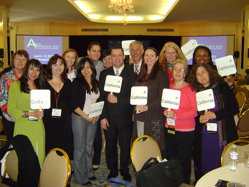 California advocates at Arts Advocacy Day 2011
