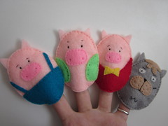 3 Little Pigs Finger Puppets (LookHappyShop) Tags: kids children toy wolf play puppet felt gift pigs storybook fingerpuppets 3littlepigs