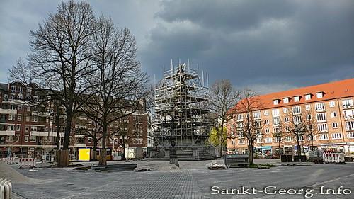 Hansaplatz in Hamburg St. Georg