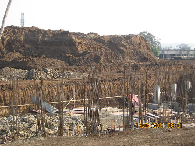 Preserving excavated soil for reuse  - Visit to Nanded City Pune on Sinhagad Road
