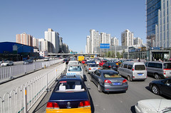 Blue Sky and Beijing Traffic