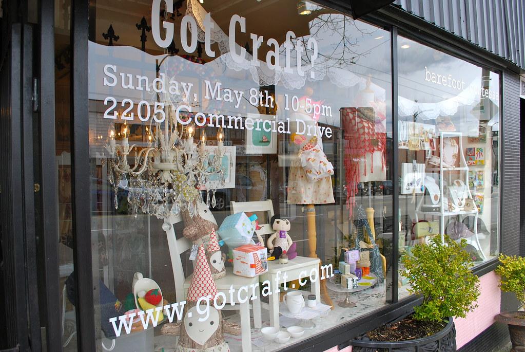 Barefoot Contessa Store raven's rest studio - jennifer conway: got craft? window displays