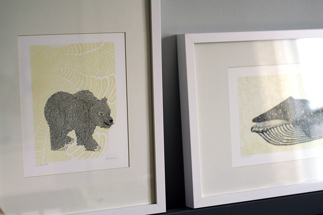 Bear and Whale Prints from Etsy