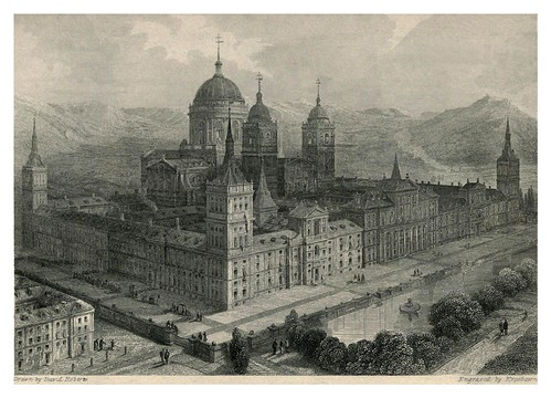 011-Palacio del Escorial- The tourist in Spain (1837)-Roberts David