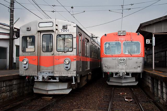 北陸鉄道7000系7001Fと7700系7701F