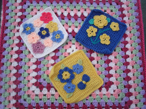 Spring Flower Squares for our Challenge! Beautiful Squares!