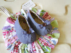Baby Mary Janes (i think sew 1) Tags: baby shower shoes sewing mary craft gift booties janes