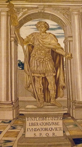 Detail of Tapestry showing the statue of Constantine I by